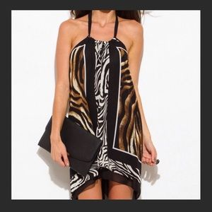 Dresses & Skirts - Sexy Animal scarf dress